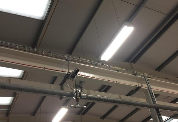 Commercial LED Lighting Installation in a warehouse